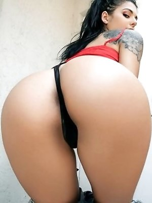 Gina Valentina isn't normally this slutty, but when some random guy starts throwing cash at her for a peak at her juicy ass, she plays ball